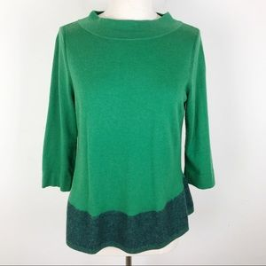 Angel Of The North Anthropologie Green Sweater Med